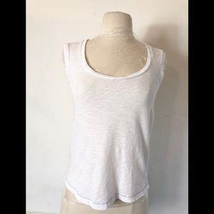 SKIN white 100% cotton white sleeveless Tank XS